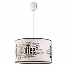 Suspensie Coffee 1x60W E27, textil