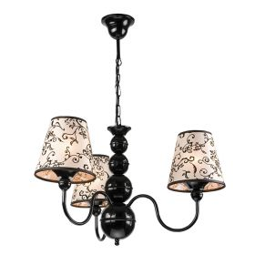 Lustra Bouli negru 3x60W E27, textil
